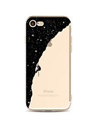 billiga -fodral Till Apple iPhone X / iPhone 8 Plus Genomskinlig / Mönster Skal Himmel / Tecknat Mjukt TPU för iPhone X / iPhone 8 Plus / iPhone 8