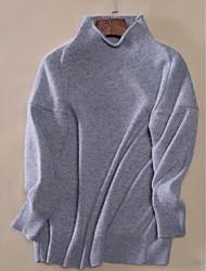cheap -Women's Long Sleeves Wool Long Cardigan - Striped Shirt Collar