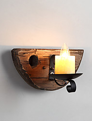 cheap -AC110-240 40 E12/E14 Rustic/Lodge Painting Feature for Mini Style,Uplight Wall Sconces Wall Light