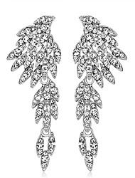 cheap -Women's Drop Earrings Unique Design Euramerican Fashion Personalized Rhinestones Alloy Flower Jewelry ForWedding Special Occasion