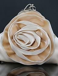 Donna Sacchetti Per tutte le stagioni Seta Pochette con Fantasia floreale per Matrimonio Serata/evento Casual Formale Argento Rosso