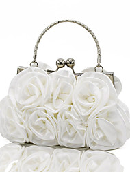 cheap -Women's Bags Silk Evening Bag MiniSpot / Ruffles / Chain Silver / Red / Apricot / Wedding Bags / Wedding Bags
