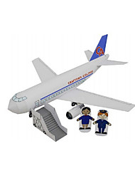 abordables -Coches de juguete Puzzles 3D Maqueta de Papel Tren Coche de policía Ambulancia Juguetes Aeronave Cola Barco Autobús Manualidades No
