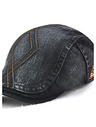 cheap -Unisex Cotton Beret Hat Casual Outdoor Sports Solid All Seasons Pure Color Striped Adjustable Newsboy Cabbie Gatsby Golf Hat Cap Black/Grey/Beige/Blue