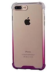 economico -Per iPhone 8 iPhone 8 Plus Custodie cover Resistente agli urti Transparente Custodia posteriore Custodia Colore graduale e sfumato Morbido