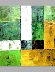 IARTS® Hand Painted Oil Painting Modern Colored Rectangle Pattern Abstract with Green Wall Art Acrylic Canvas Wall Art For Home Decoration