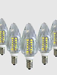4W E14 Luzes de LED em Vela C35 40 leds SMD 2835 Branco Quente Branco 450-500lm 2800-32006000-6500.