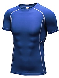 cheap -Men's Running T-Shirt Short Sleeve Fitness, Running & Yoga Compression Clothing / T-shirt / Top for Yoga / Exercise & Fitness / Leisure