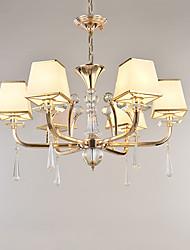 Lampadario moderna / contemporanea funzione galvanica per metallo cristallo soggiorno camera da letto / ufficio