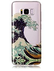 billiga -fodral Till Samsung Galaxy S8 Plus / S8 IMD / Mönster Skal Linjer / vågor / Glittrig Mjukt TPU för S8 Plus / S8 / S7 edge