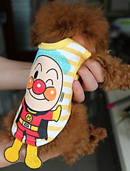 Недорогие -Кошка Животные Собака Рубашка Одежда для собак Воздухопроницаемость Очаровательный На каждый день Милая Милый Мультипликация Костюм Для
