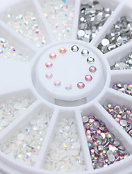 cheap -1pcs Rhinestones Nail Jewelry Jelly Mixed Color Sparkle & Shine Nail Art Design
