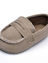 Baby Flats Comfort Canvas Spring Fall Wedding Casual Outdoor Party & Evening Comfort Split Joint Flat Heel Coffee Gray Flat