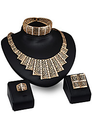 cheap -Women's Pendant Necklaces Rhinestone Personalized Fashion Party Evening Party Rhinestone Gold Plated Alloy Geometric