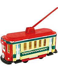 abordables -Puzzles 3D Puzzle Bus Articles d'ameublement A Faire Soi-Même En bois Bois Classique Enfant Cadeau
