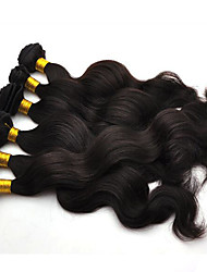 cheap -6Pcs/Lot 300g Natural Color Human Hair Weaves 8-26inch Brazilian Texture Body Wave Human Hair Bundles