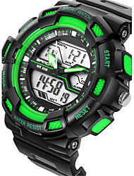 cheap -Men's Digital Watch Alarm / Calendar / date / day / Water Resistant / Water Proof Rubber Band Black / Stopwatch / Noctilucent