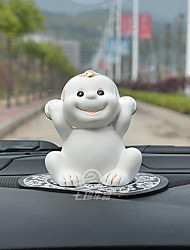 cheap -DIY Automotive Ornaments Creative Decoration Small Monkey Doll Cute Decoration Car Pendant & Orname Ceramic