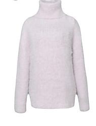 Standard Cashmere Da donna-Casual Semplice Tinta unita A collo alto Manica lunga Cotone Autunno Inverno Medio spessore SpessoMedia