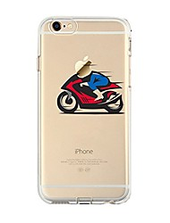 cheap -Case For IPhone 7 6  Playing With Apple Logo TPU Soft Ultra-thin Back Cover Case Cover iPhone 7 PLUS 6 6s Plus SE 5s 5 5C 4S 4