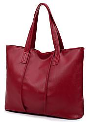 Damen Taschen Ganzjährig PU Tragetasche mit Reißverschluss für Normal Schwarz Rote Grau