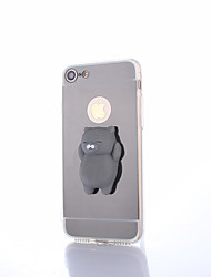 abordables -Funda Para Apple iPhone 8 Plus Espejo Manualidades Blando Cubierta Trasera Gato Color sólido Dibujo 3D Dura Policarbonato para iPhone X