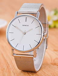 Men's Fashion Watch Chinese Quartz Stainless Steel Band Casual Minimalist Silver