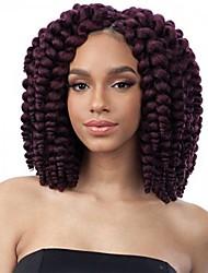 cheap -Braiding Hair Curly / Bouncy Curl Curly Braids / Hair Accessory / Human Hair Extensions 100% kanekalon hair / Kanekalon 10 roots / pack Hair Braids Ombre Crochet Braids / 100% kanekalon hair Daily