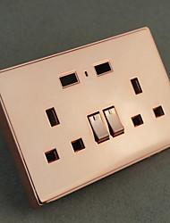 Недорогие -Электрические розетки Нержавеющая сталь С выходом USB-зарядного устройства 10*9*6