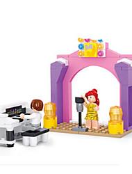 cheap -Building Blocks / Block Minifigures / Pretend Play Castle / Piano / House Animals Girls' Gift