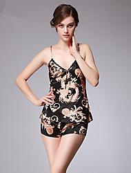 cheap -Women's Sexy Suits Satin & Silk Nightwear - Print