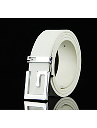 cheap -Men's Alloy Waist Belt,Blue Brown White Black Light Brown Casual Fashion Solid Shiny Metallic