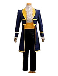 cheap -Prince Fairytale Cosplay Costume Male Unisex Halloween Carnival Festival / Holiday Halloween Costumes Yellow+Blue Solid
