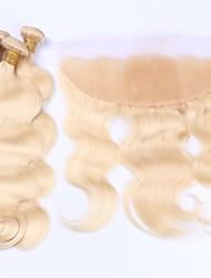 Недорогие -Бразильские волосы Естественные кудри Натуральные волосы Волосы Уток с закрытием Ткет человеческих волос Расширения человеческих волос