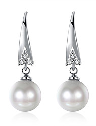 Women's Drop Earrings Cubic Zirconia Imitation Pearl Basic Fashion Imitation Pearl Zircon Drop Jewelry For Party Work