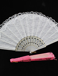 cheap -Fans and parasols-Piece/Set Hand Fans Wedding Laces Wedding Favors