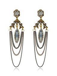 Per donna Orecchini a goccia imitazione diamante Di tendenza Personalizzato Ipoallergenico Lega Ovale Gioielli PerFeste Cerimonia Evento