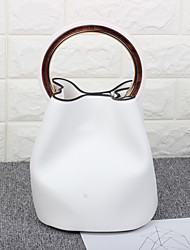 Women Bags All Seasons PU Bucket Bag for Casual White Black Brown