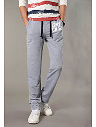Men's Mid Rise Micro-elastic Sweatpants Pants,Active Loose Straight Letter