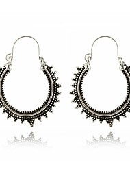 Women's Hoop Earrings AAA Cubic Zirconia Floral Gray Pearl Circle Round Jewelry For Party Gift Evening Party Stage