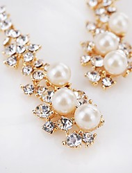 cheap -Women's Imitation Pearl Drop Earrings - Dangling Style Pendant Classic Adorable Gold / White Geometric Earrings For Wedding Party Special
