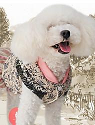 baratos -Cachorro Vestidos Roupas para Cães Geométrica Amarelo Algodão Ocasiões Especiais Para animais de estimação Homens / Mulheres Casual