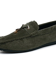 cheap -Men's Shoes Nubuck leather Spring Fall Comfort Moccasin Sneakers For Casual Outdoor Black Gray Green