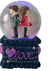 baratos -Bolas Caixa de música Globo de neve Cristal Redonda Mulheres Crianças Dom