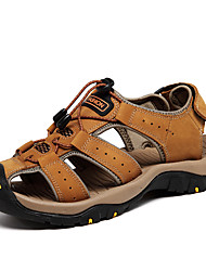 Men's Sandals Comfort Spring Summer Nappa Leather Water Shoes Dress Outdoor Light Brown 1in-1 3/4in