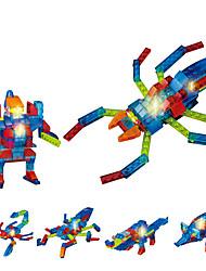 LED Lighting Building Blocks Educational Toy For Gift  Building Blocks Animal ABS Toys
