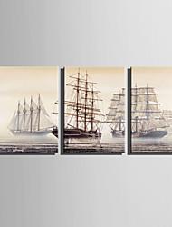 Недорогие -Холст для печати 3 панели Холст Вертикальная С картинкой Декор стены For Украшение дома