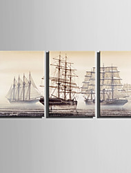 cheap -Canvas Print Three Panels Canvas Vertical Print Wall Decor Home Decoration