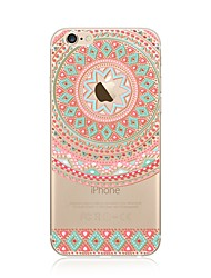 Etui til iphone 7 plus 7 cover gennemsigtigt mønster bagcover case mandala soft tpu til apple iphone 6s plus 6 plus 6s 6 se 5s 5c 5 4s 4