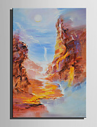 cheap -Mini Size E-HOME Oil painting Modern The Valley Scenery Pure Hand Draw Frameless Decorative Painting